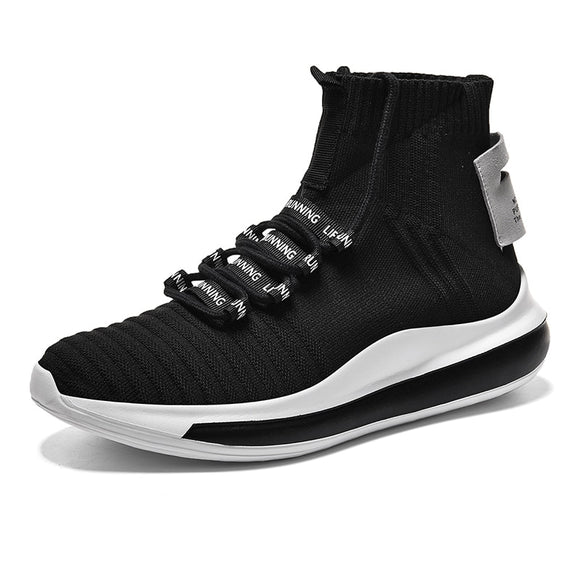 Shoes Men Casual Sneakers High Top Socks Chunky Shoes Summer Male Lace Up Flat Footwear Breathable Trainers Zapatillas Hombre