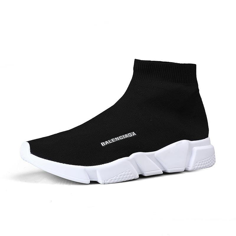 Sneakers Men's Shoes 2019 New Mesh Cloth Socks Style Women's Shoes Fashion Couple Shoes Walking Shoes Big Size Shoe Eight Colors