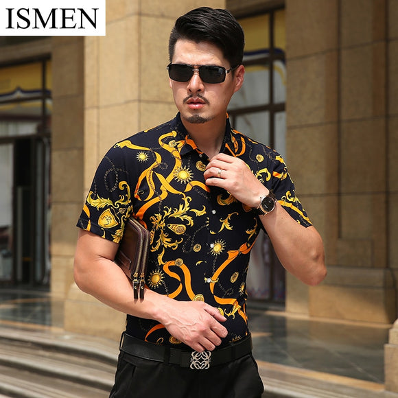 Summer Short Sleeve Men Shirts Casual Dress Shirt Fashion 100% Cotton Slim Fit Stylish Camisa Social Formal Plaid Tees Masculina