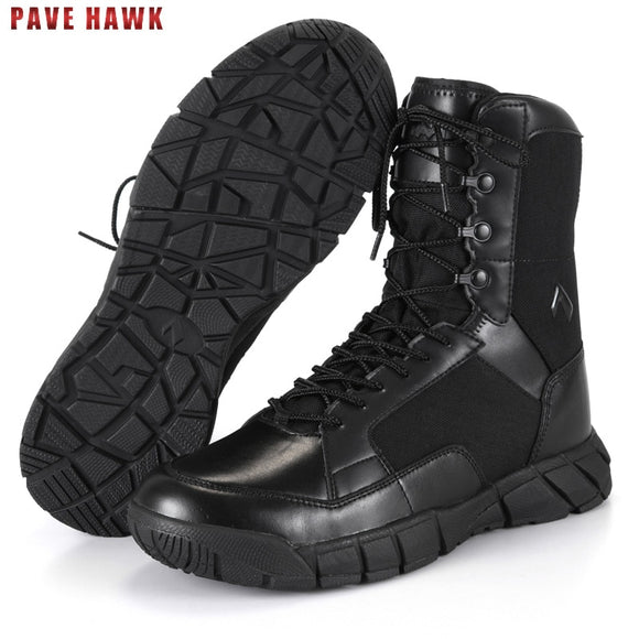 TB Waterproof Breathable Leather Army Military Tactical Boots Hiking Shoes Men Outdoor Sport Desert Trekking Climbing Sneakers