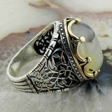 925 Sterling Silver Yemen Akiği Male Ring