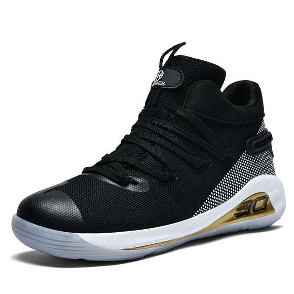 Unisex High Top Professional Mens Basketball Shoes Curry 4 Men Sneakers Men Ankle Protection Li Ning Basket Shoes Lebron Shoes