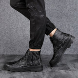 VESONAL 2019 Autumn Winter fur plush Genuine leather Ankle Men Boots snow Shoes classic Warm Male Casual Boot Sneakers Footwear