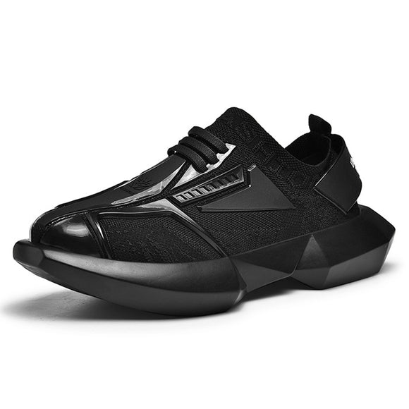 VSIOVRY 2019 New Fashion Men Casual Shoes Elastic Knit Breathable Chunky Sneakers Dad Shoes Comfortable Walking Sneakers for Men