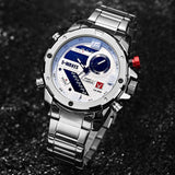 Watches Men 2019 New Top Brand Quarzt LED Waterproof Multifunction Stainless Steel Digital Wristwatch Male Relogio Masculino