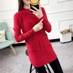 Wholesale 2019 New Autumn Winter Hot Selling Women's Fashion Casual Warm Nice Sweater Manteau Femme Hiver
