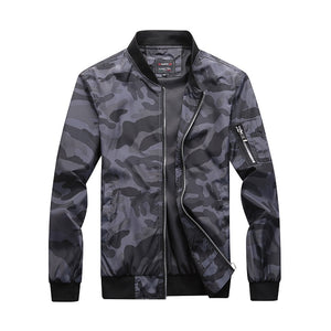 Windbreaker Autumn Military Army Camouflage Bomber Jacket Pilot Men Stand Collar Camo Coat Male Outerwear Large Size 5XL 6XL 7XL