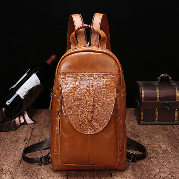 Women Backpack High Quality Genuine Leather Back Pack for Men Messenger Shoulder Chest Bag pack Female Cross body Travel Mochila
