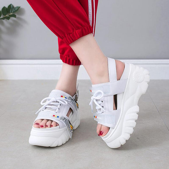 Women's Sandals 2019 Summer High Heels Sandals Women Chunky Sandals Womens Wedge Platform Shoes Casual Summer Sandals mujer &14