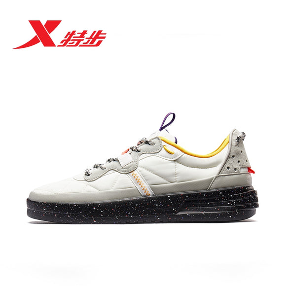 Xtep Men's Skateboarding Sports Shoes Autumn New Basic Flat Heel Lace-Up Skateboard Outdoor Sneaker Shoes  881419319707
