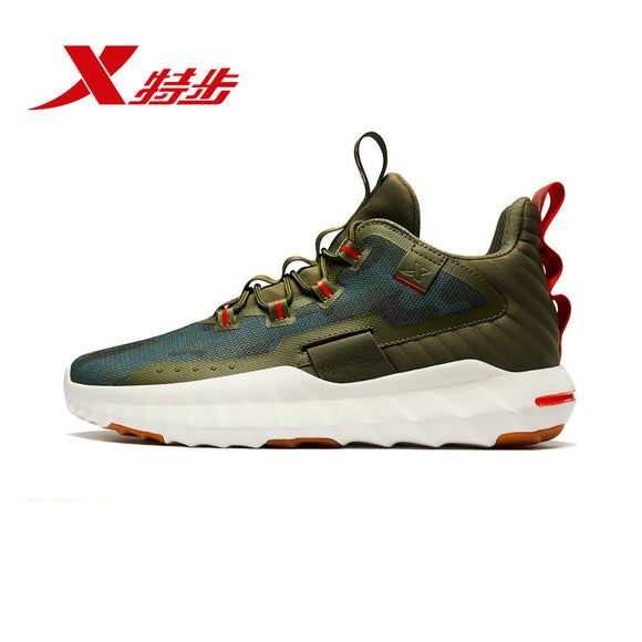Xtep men basketball shoes 2019 autumn new medium cut absorption mesh breathable non-slip sneakers 881319129017