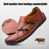 YIGER New Casual shoes men Genuine Leather loafers men Handmade shoes soft sole Lazy shoes Fashion Spring Leisure shoes  0240