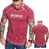 Yamaha Factory Racing Print T shirt Men's O-neck Slim Fit Pure Tshirt Fashion Short Sleeve Top Tees Fitness Casual Top Male Tees