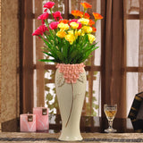 Yellow ceramic creative contracted flower vase pot home decor craft room decoration handicraft garden porcelain figurine