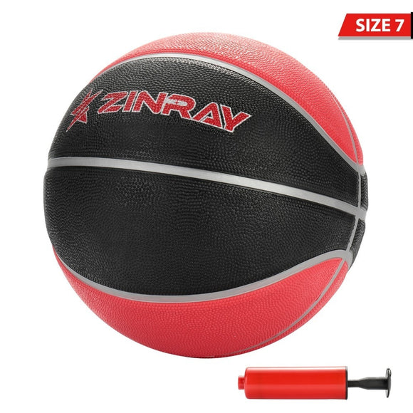 ZINRAY Basketball GL7 PU Materia Official Size 7 Ball With Inflator Outdoor Leather Rubber Por Street Basketballs Wholesale