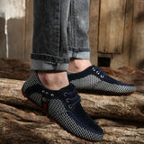 ZYYZYM Men Shoes Spring Summer Men Casual Shoes Lace-Up Style Light Breathable Fashion Man Loafers Shoes Men