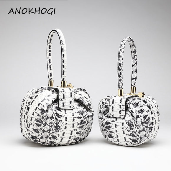 Zebra Print Dumpling Women Fashion Tote Bags Striped Hasp Top-handle Bag Ladies Genuine Leather Cow Handbag B328