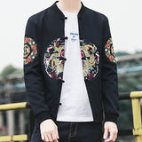 Zongke Chinese Dragon Embroidery Jacket Men Streetwear Clothes Bomber Jacket Men Hip Hop Windbreaker Men Jacket Coat 5XL 2019