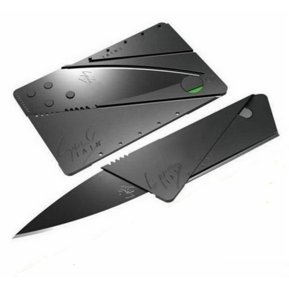 2pcs Credit Card Wallet knife Stainless Steel Folding Safety Pocket Fruit Cutter Tools