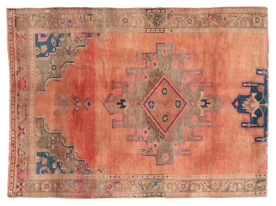 Free Shipping 7x9 Antique Oushak Rugs Red Turkish rug Luxury Area Rug Brown faded blue rug Unique oushak rugs ethnic kilim rugs large runner