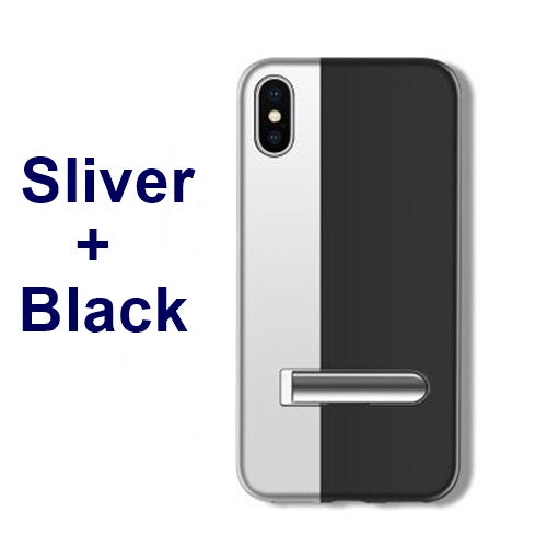 luxury new design for iphone Xs max case 7 case Bracket magnetic contrast color case for iphone xs max xr x 7 8 6 6s plus case