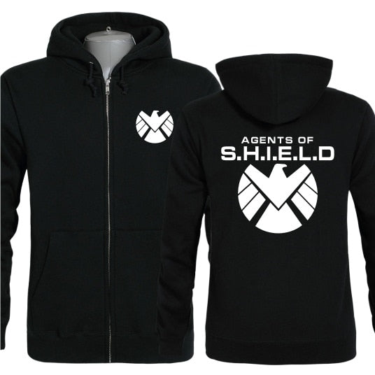 new 2019 free shipping autumn winter Agents of SHIELD S.H.I.E.L.D. Clark Gregg full zip male men hoodies