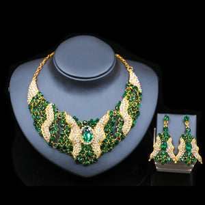 LAN PALACE fine jewelry set nigerian wedding african beads necklace sets for women necklace and earrings  free shipping