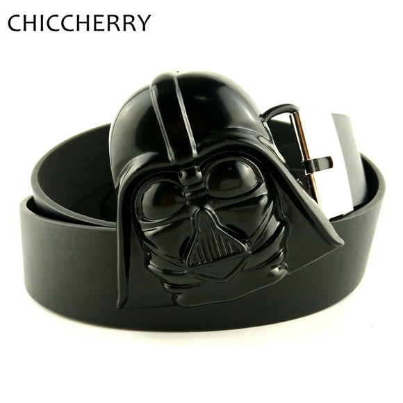 Brand Mens Designer Belts with Cool Star Wars Dark Warrior Mask Belts Buckle Metal
