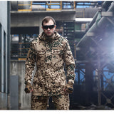 CQB Brand Men Outdoor Overcoat Breathable Coat Military Camouflage Jackets Loose