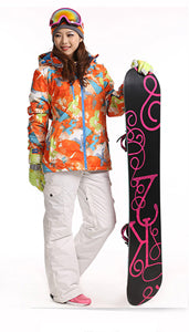 Waterproof Sportwear Female Ski Suit Women Winter Ski wear Top Hoodie