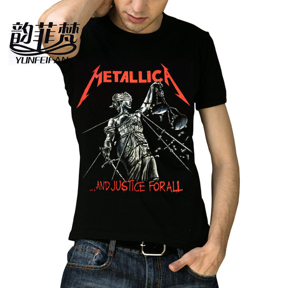 Metallica T-Shirt Men Women Skull Printing Heavy Metal Rock T Shirts O Neck Tops Tee