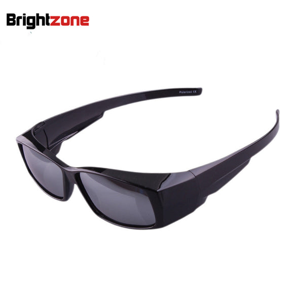 cf7ca513f9 Outdoor sport sunglasses Polarized Lens Cover Fit Over Sun glasses Wear  Over Myopia For Outdoor Racing