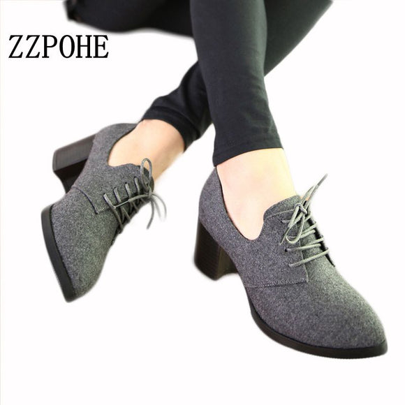 ZZPOHE New spring woman shoes stylish comfortable Ladies high-heeled shoes pointed