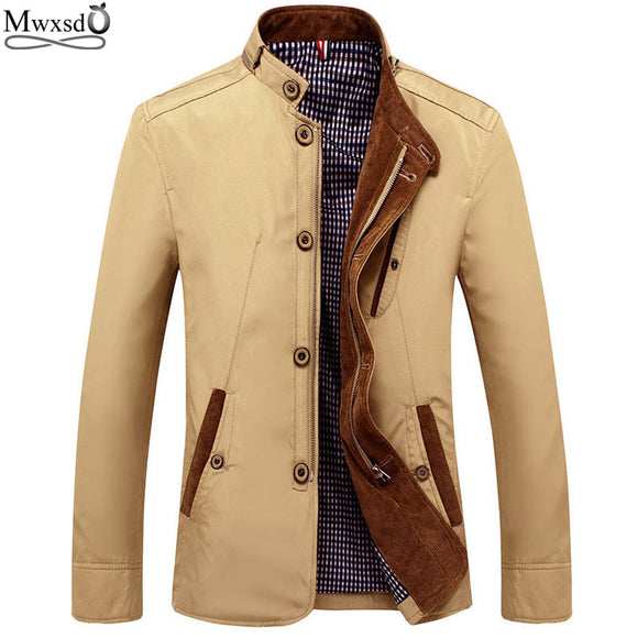 Mwxsd brand spring men casual thin jacket comfortable men's Slim fit blazer jacket