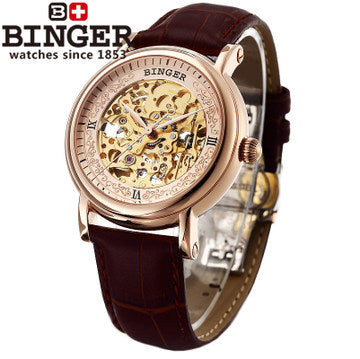 Genuine Binger men hollow big watches limited edition automatic mechanical watch brand