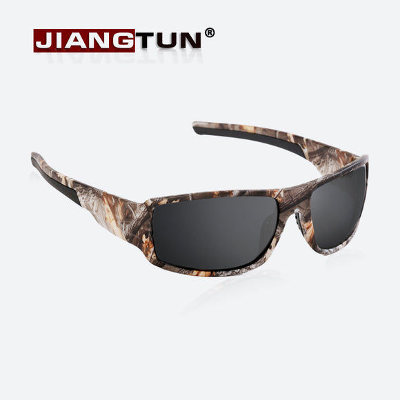 JIANGTUN 2018 Top Fashion Camo Black Polarized Sunglasses Men Cool Style Quality
