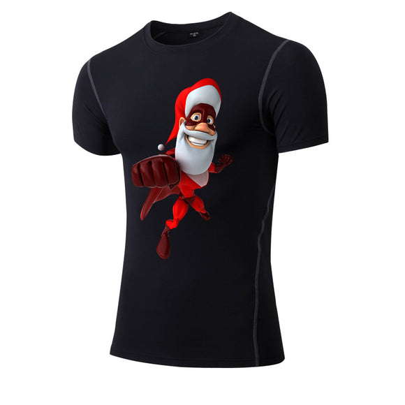 Yel New Children Christmas Gift Kid Sportswear Quick Dry Tight Fitness Short T-Shirt Soccer Jerseys Boys And Girls Running Shirt