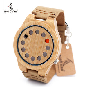 2017 Women Watches BOBO BIRD Luxury Quartz Watch Casual Bamboo Wood Watch