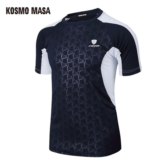 KOSMO MASA 2018 Spring Summer Men's Short Sleeve T-shirt Quick Dry Breathable