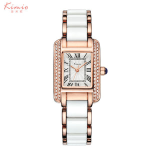 2017 Real New Kimio Luxury Jewelry Ladies Quartz Watch Dress Fashion Casual Women