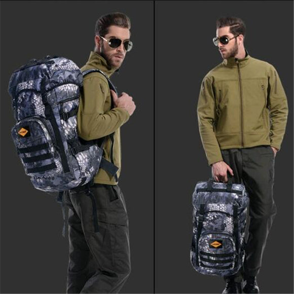 Men's bag nylon waterproof travel backpack 50 litres large capacity military camouflage high-end women 17-inch laptop bag