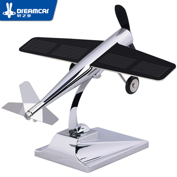 DREAMCAR High Technology Aircraft Model Ornaments Propeller Rotating Solar Power