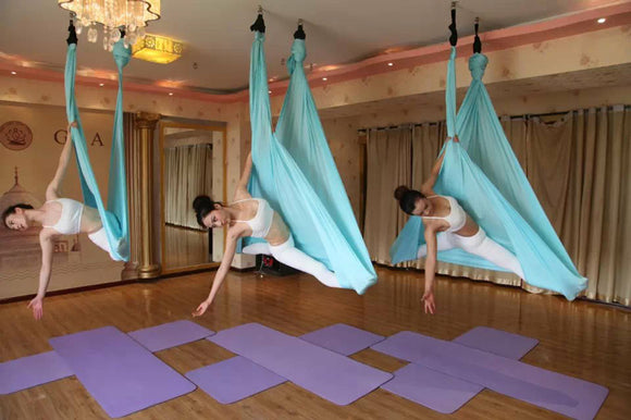 YONTREE 1 PC 5 Meters Elastic Aerial Yoga Hammock Anti-gravity Inversion Swing for Yoga Training