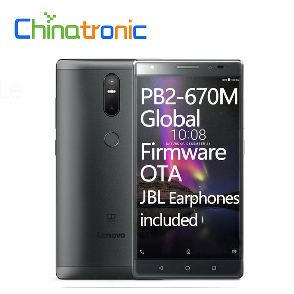 Original Lenovo Phab 2 Plus PB2-670N Global Firmware 4G FDD LTE Mobile Phone Android 6.0 Octa Core Dual SIM 6.44