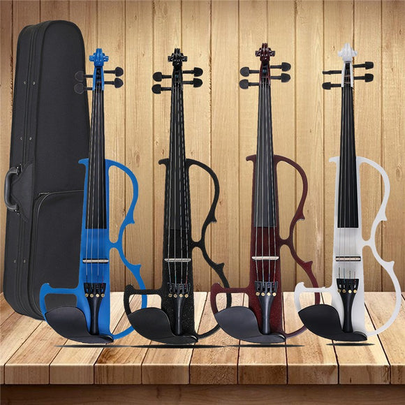 4/4 Acoustic Violin Basswood Panel Stringed Instruments Fiddle With Violin Case Bow