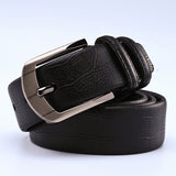 Lucidity Fashion Mens Belts Pin Buckle PU Brand Belts For Men Individuality Popular