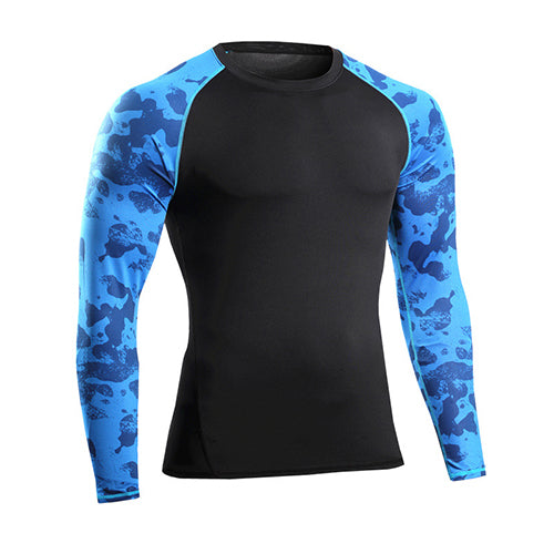 0c77c1645 ... Yuerlian Compression Fitness Tight Rugby Jersey Gym Costume Demix Sport  Suit Shirt Bodybuilding Men'S Long Shirts ...
