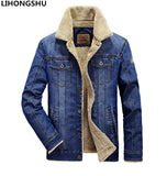 M-4XL men jacket and coats brand clothing denim jacket Fashion mens jeans jacket thick warm winter outwear male cowboy YF058