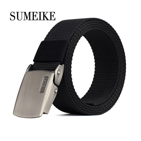 [SUMEIKE] Alloy Buckle Tactical Belt For Men Casual Style Male Belt Canvas Strap Men