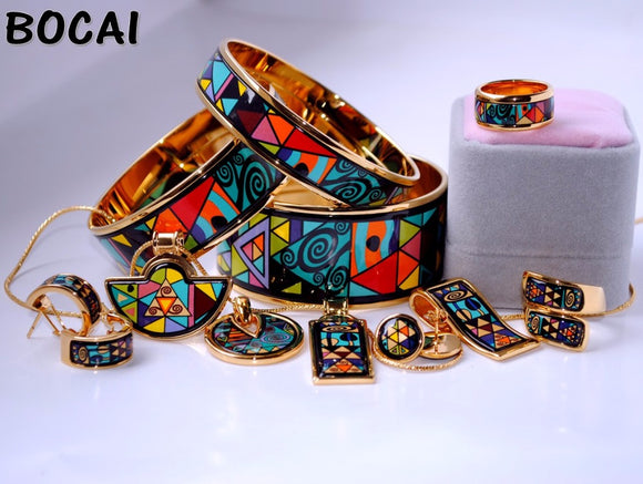 Cloisonne enamel jewelry European and American style 4pcs sets